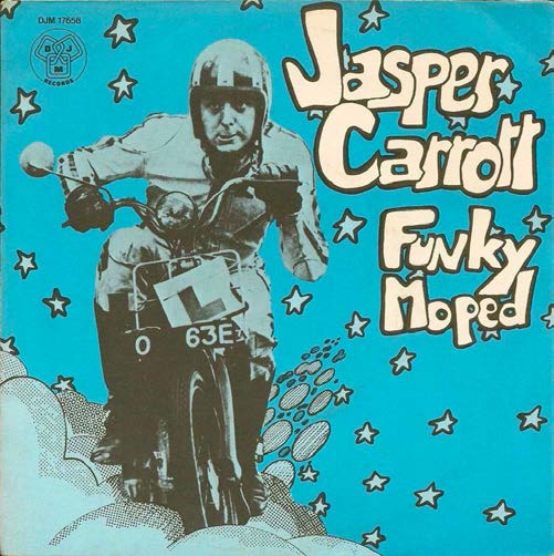 The cover of the Jasper Carrott hit single 'Funky Moped'
