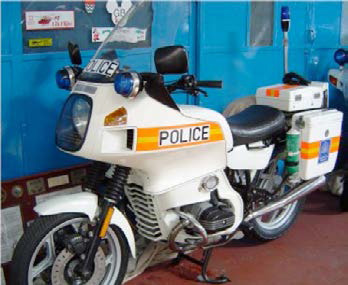 BMW R100RT, in full police regalia