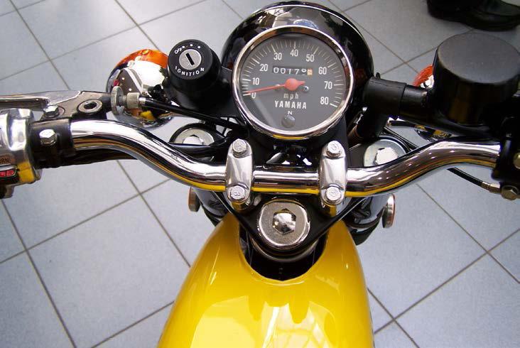 Close up of an FS1-E speedo