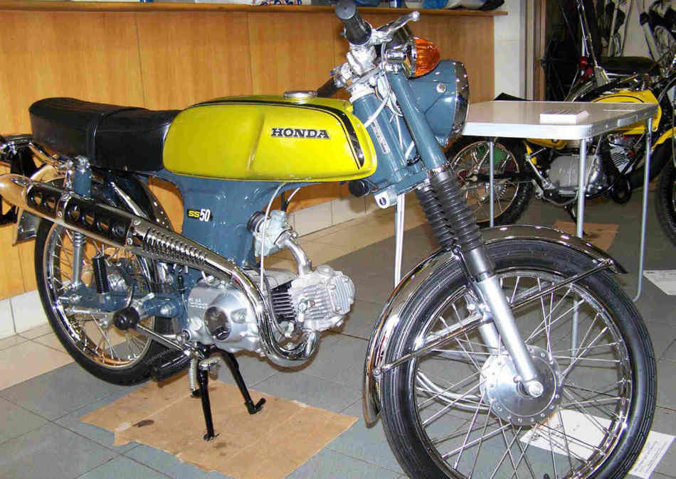 Side view of the Honda SS50