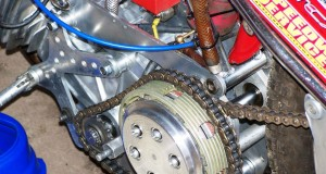 Close up of the clutch basket of a bike