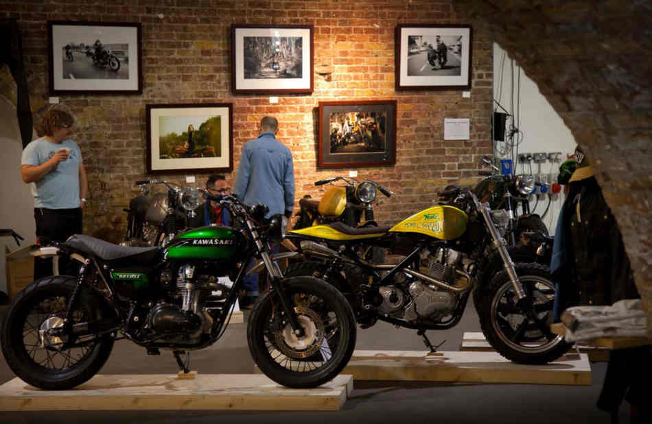 Customised Kawasaki Z1000 and Norton