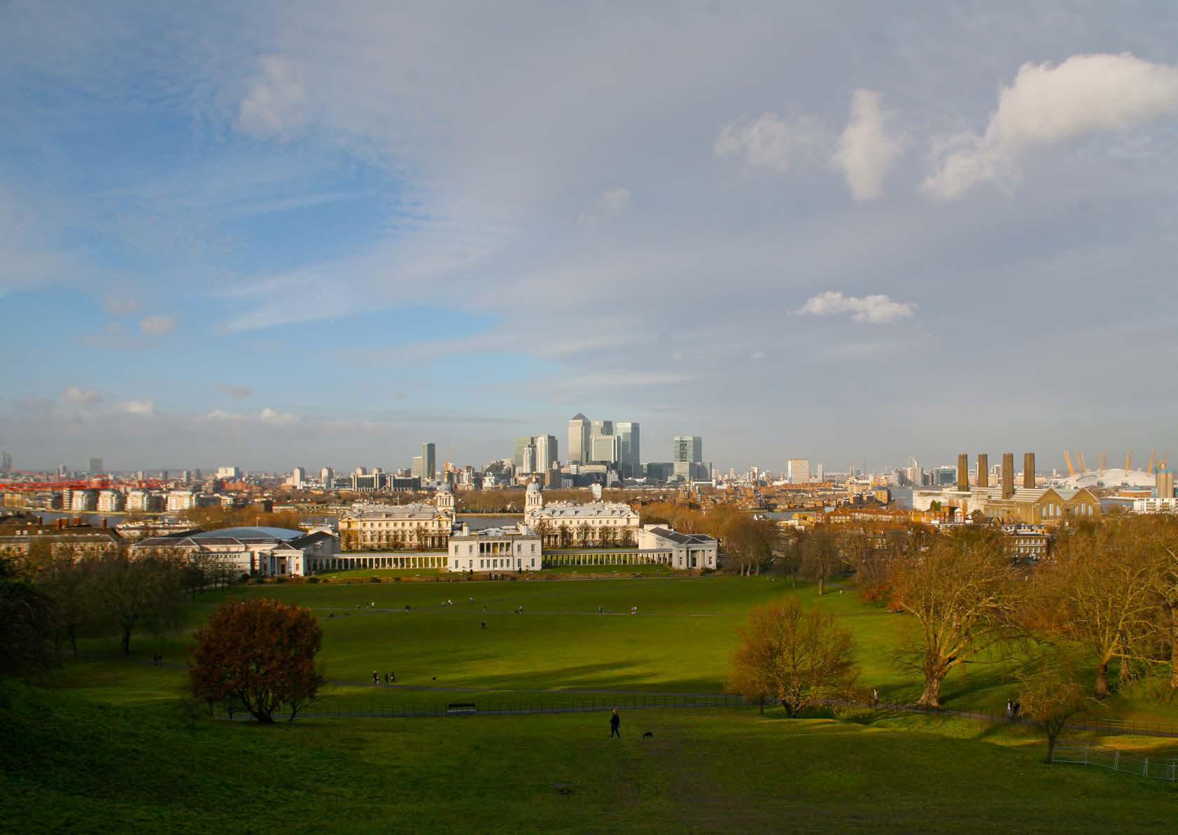 A view over London from Greenwich park