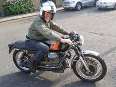 Neil riding the Guzzi Le Mans