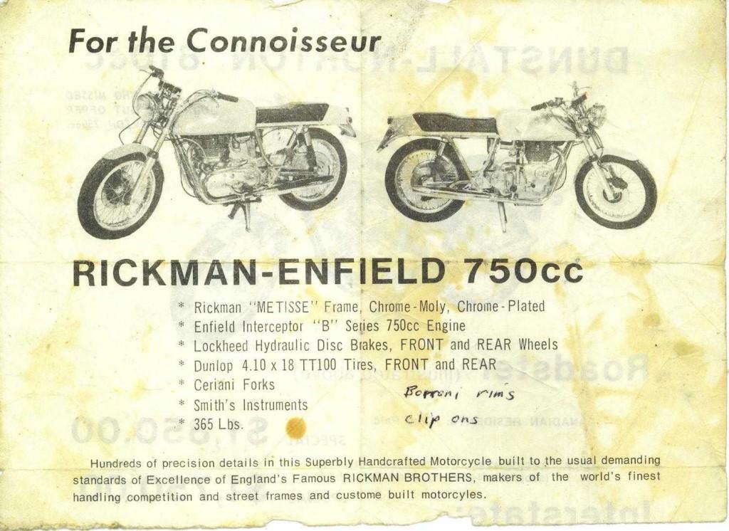1971 Rickman ad