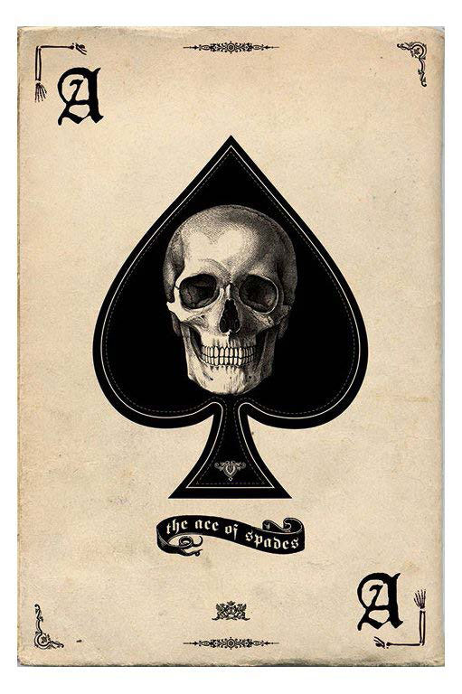Ace of spades with skull in the spades symbol