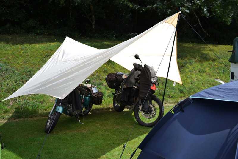 Bikes in tent